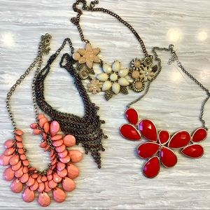 4 Chunky Necklaces